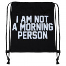 wholesale School Supplies: Backpack Turnbeutel Morning Person black