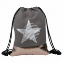 Gymsac Gymbag backpack gray copper star