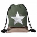 Gymsac Gymbag backpack khaki olive star