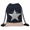 grossiste Fournitures scolaires: Gymsac sac à dos Gymbag étoile en cuivre noir