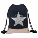 Gymsac Gymbag backpack black copper star