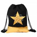 Gymsac Gymbag backpack black gold star