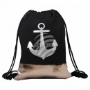 Gymsac Gymbag backpack silver copper anchor mariti