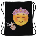 Backpack Bag Emoticon Chill Black