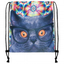 Backpack Turnbeutel Cat Psychedelic