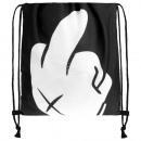 Gymbag, Gymsac Design: Mittelfinger Farbe: schwarz