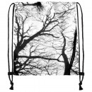 Gymbag, Gymsac Design: Bäume Farbe: weiss, schwarz
