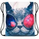 Backpack Bag cat with glasses