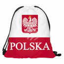 Gymbag, Gymsac Design: Polen Farbe: rot, weiss