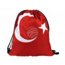 Gymbag, Gymsac Design: Türkei Farbe: rot, weiss