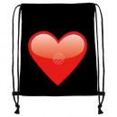 Zaino Borsa da ginnastica con stampa: cuore Colore