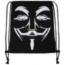 Turnbeutel Gymsac Vendetta Anonymous white black