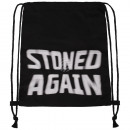 wholesale School Supplies: Turnbeutel Gymsac stoned again black and white