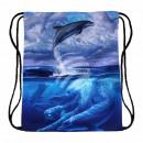 Großhandel Schulbedarf: Gymbag Gymsac Rucksack multicolor Delfine ...