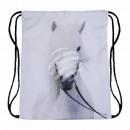 grossiste Fournitures scolaires: Gymbag Gymsac sac à dos moule à cheval blanc