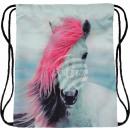 Wielobarwny koń Gymbag plecak Gymsac z różowym