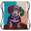 Großhandel Schulbedarf: Gymbag Gymsac Rucksack multicolor Hund ...