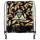 Großhandel Schulbedarf: Gymbag, Gymsac Ornamente & Auge schwarz braun gelb