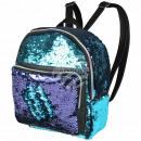 Großhandel Taschen & Reiseartikel: Rucksack blau navy  blau  Paillettendesign ...