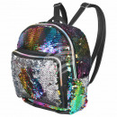 Backpack rainbow silver sequin design approx. 24 c