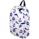 wholesale Backpacks: High quality backpack Maritime symbols white