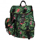High quality backpack with side pockets plants