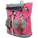 groothandel Rugzakken: Rugzak roze  Veelkleurige  vlinders ongeveer ...