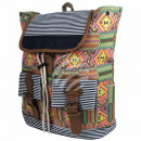 wholesale Backpacks: Backpack gray multicolor aztec print approx. 40 cm