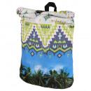 groothandel Rugzakken: Rugzak met  rolsluiting Aztec palmen