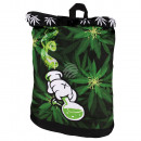 wholesale Backpacks: Backpack with roll  closure Weed Bong green black