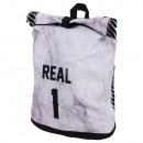 Großhandel Rucksäcke: Rucksack mit  Rollverschluß Real 1 schwarz weiss