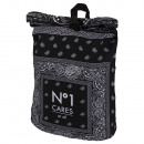 wholesale Backpacks: Backpack with roll closure Paisley  No1
