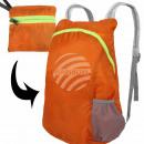 Zaino arancione uni con guarnizione ca. 38 cm