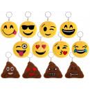 grossiste Cadeaux et papeterie: Porte-clés Tri Emoji Con Ø 7cm (