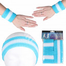 groothandel Sportkleding: Zweetband hoofdband set blauw lichtblauw ...
