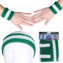Sweatband headband set green dark green white gest