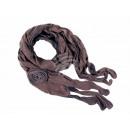 Ladies Scarf Design: plain fringed color: khaki