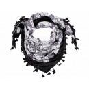 Damen und Herren Schal Design: Blumen Farbe: braun