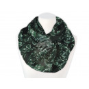 Damen Herren  Schal florale Ornamente grün