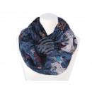 Damen Herren Schal Schneeflocken blau