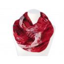 Damen Herren Schal Schneeflocken rot