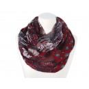 Damen Herren Schal. floral, rot