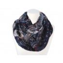 Damen Herren Schal. floral, dunkelblau