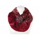 Großhandel Fashion & Accessoires: Damen Herren Schal Blumen Ornamente rot