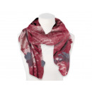 Damen Herren Schal Floral rot