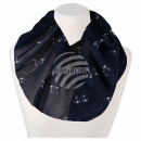 Damen Loop Schal dunkelblau Anker maritim