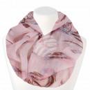 Damen Loopschal Dreamcatcher rosé braun hellblau