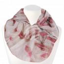 Damen Loopschal Dreamcatcher weiss rosa braun