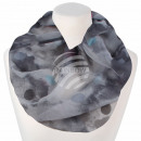 Ladies Loop Scarf Dots gray anthracite