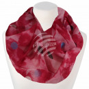 Ladies Loop Scarf Dots red pink